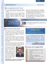 FERMA Newsletter 43 (September 2011)