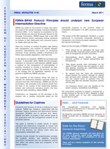 FERMA Newsletter 40 (March 2011)