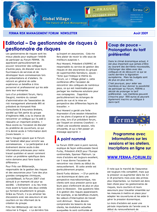 FERMA Newsletter – Forum 2009 – in FRENCH (August 2009)