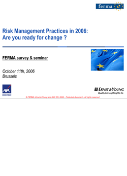 FERMA European Risk Management Benchmarking Survey 2006