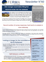 Access latest and previous FERMA newsletters, online or in pdf format.