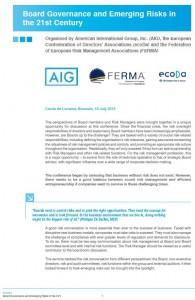 FERMA ecoDa AIG - Risk Governance Conference v2