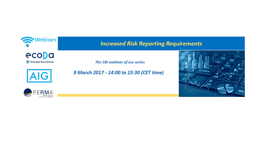 Risk Conversation at Board level: 5th webinar with ecoDa and AIG – Transparency