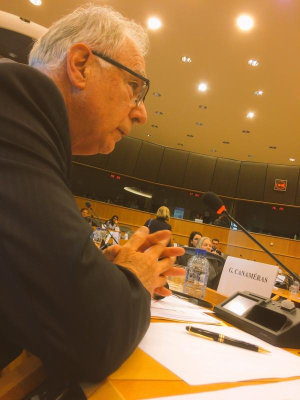 Gilbert Canameras at the European Parliament 11 April 2017