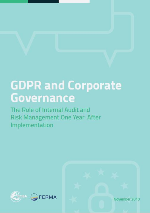 "Click on the cover to read the report ""GDPR and corporate governance"""