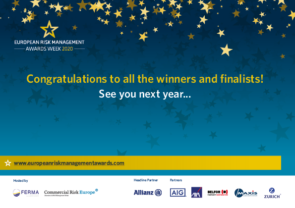 winners of european risk management awards 2020