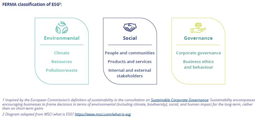 FERMA classification of ESG