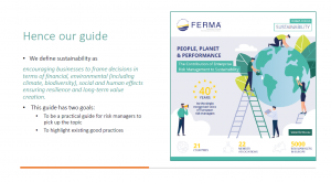 FERMA issues first sustainability risk guide for European risk managers